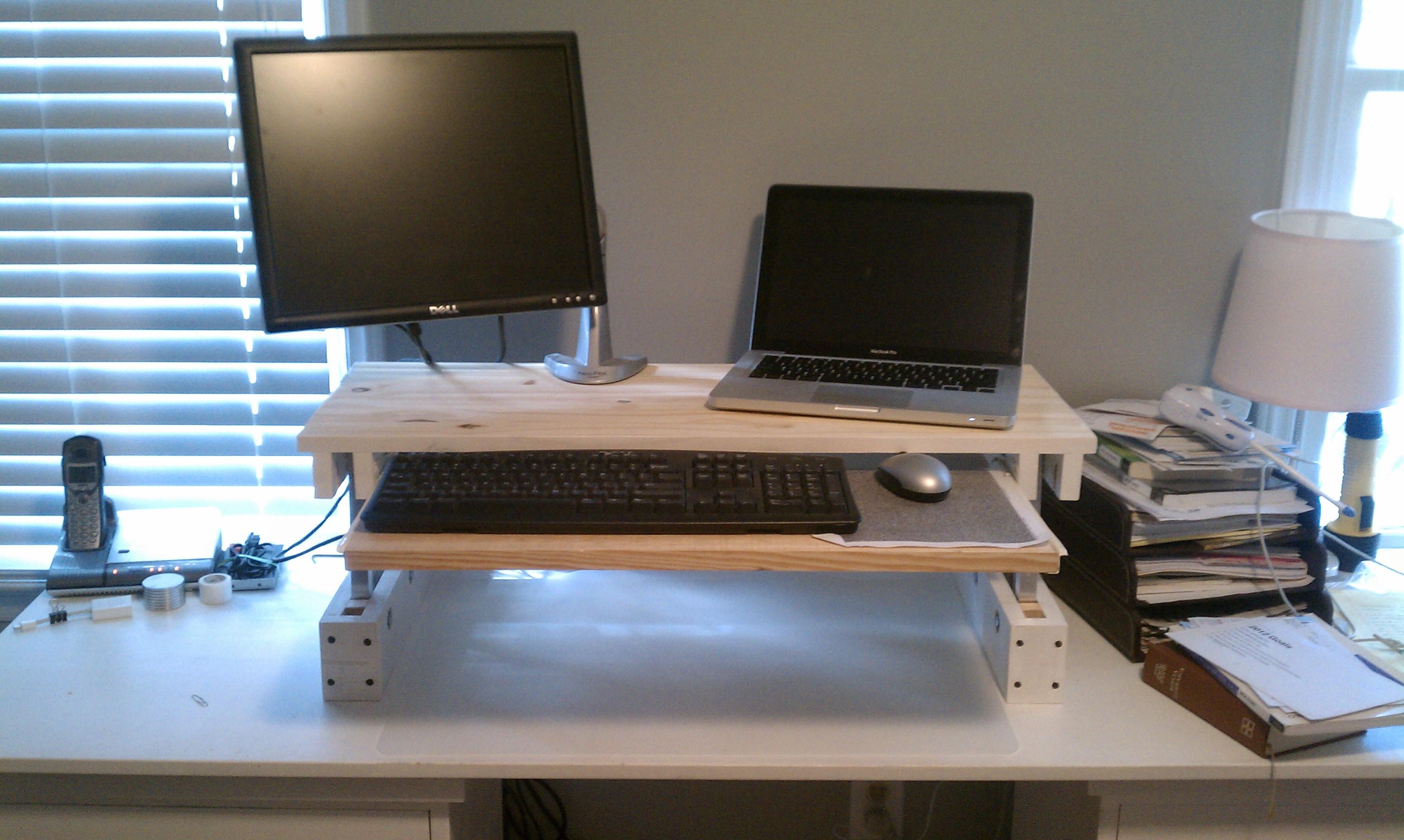 Diy Adjustable Desk For Under 25 Code Over Easy