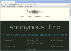 anonymous-pro web page