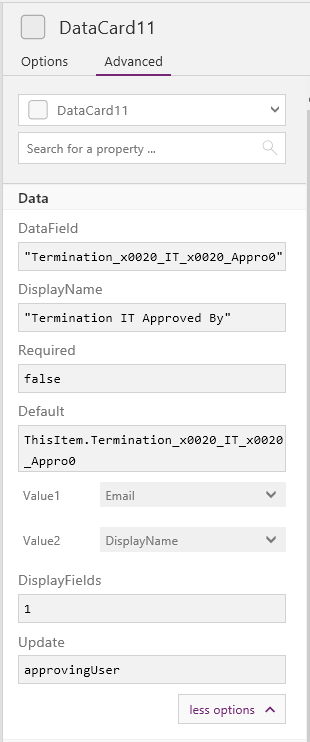 Powerapps Update Variables